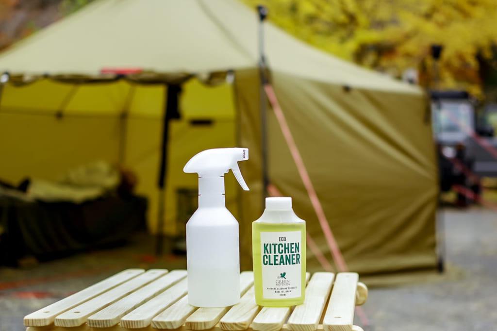 「ECO KITCHEN CLEANER」をキャンプ場で使ってみた