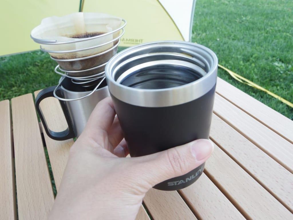 ちょうどコーヒー一杯分のマグサイズ