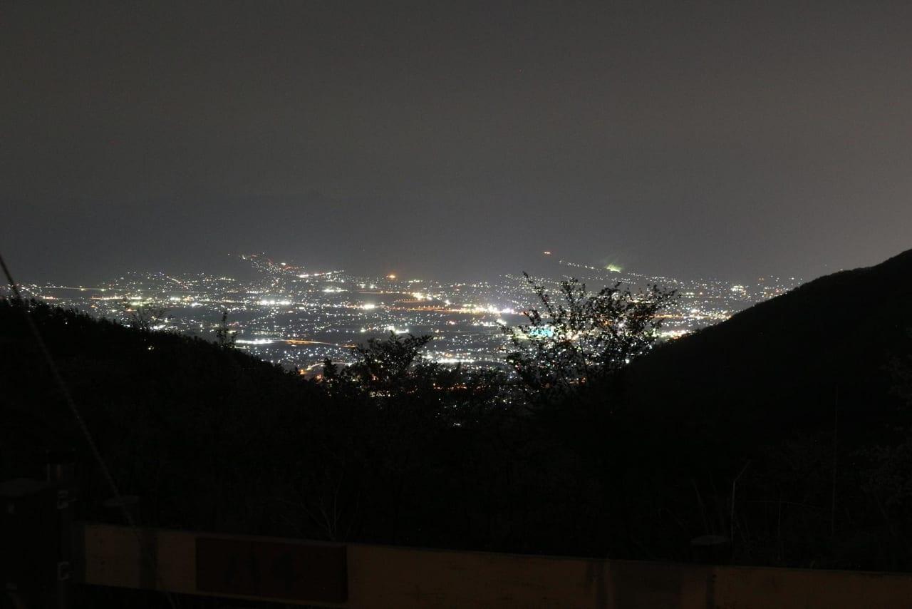ほったらかしキャンプ場から見る夜景
