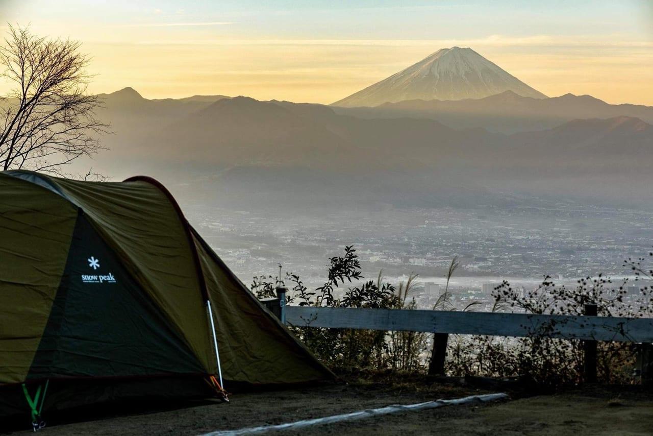 ほったらかしキャンプ場の朝