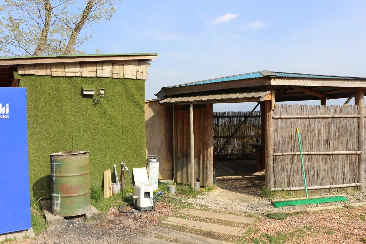 ほったらかしキャンプ場の炊事場