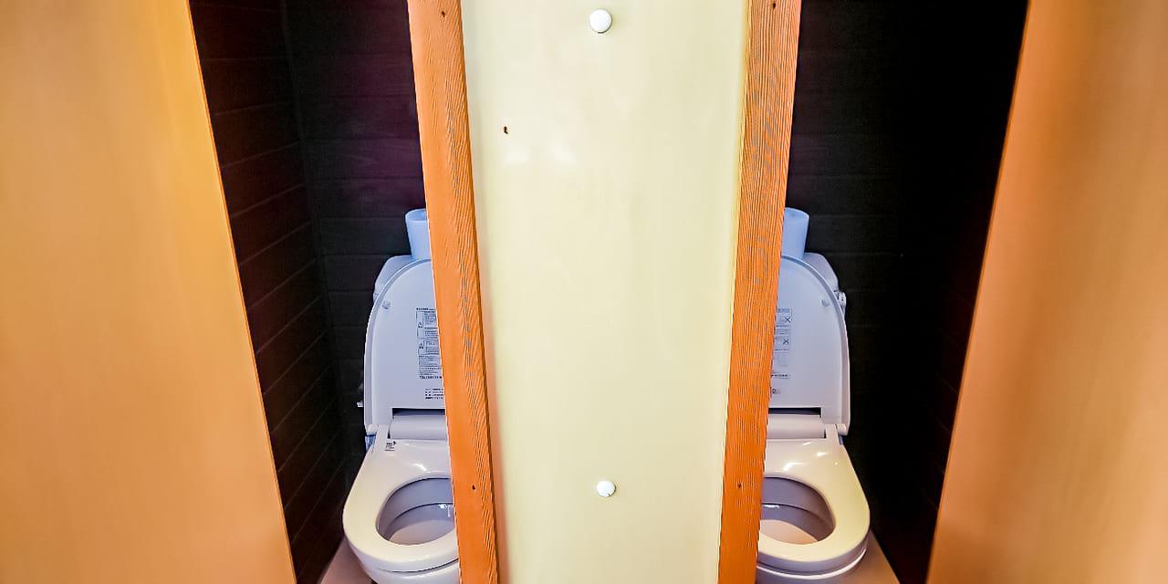 /オートサイトのトイレも綺麗に管理されている