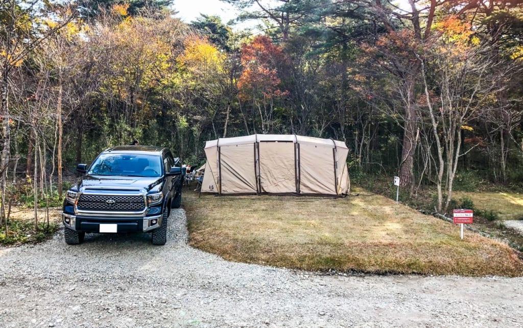キャンプサイト1区画