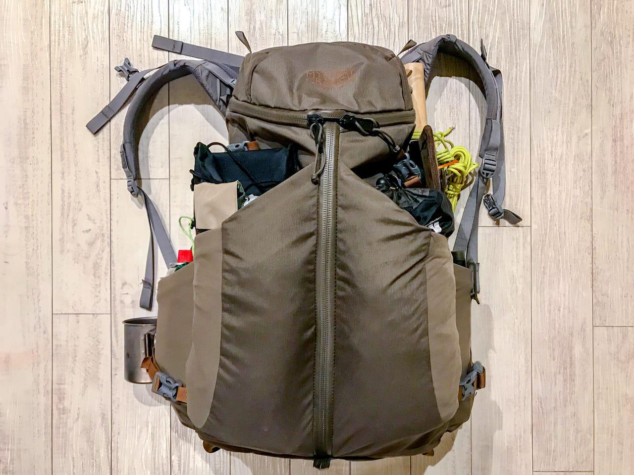 /キャンプ道具のバックパックへの詰め方