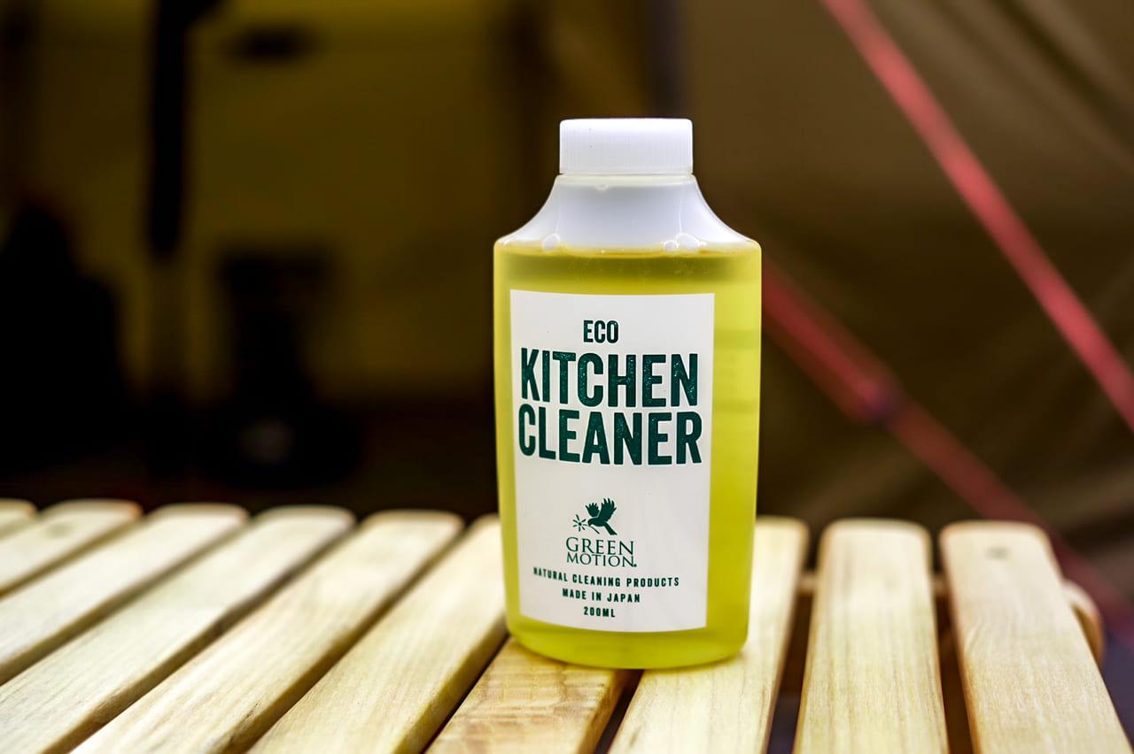 サッと拭くだけ!水要らずのエコ洗剤「ECO KITCHEN CLEANER」をキャンプ場で使ってみた