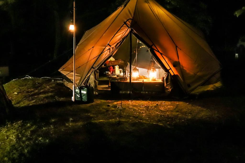 ゼクーMでキャンプを楽しむ