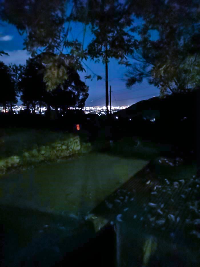 /テントサイトからの夜景