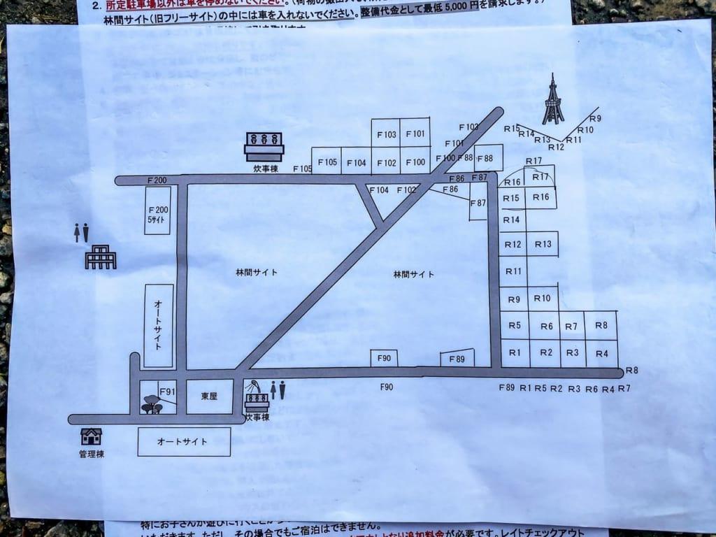 /ホウリーウッズ久留里キャンプ村のサイトマップ-1024x768