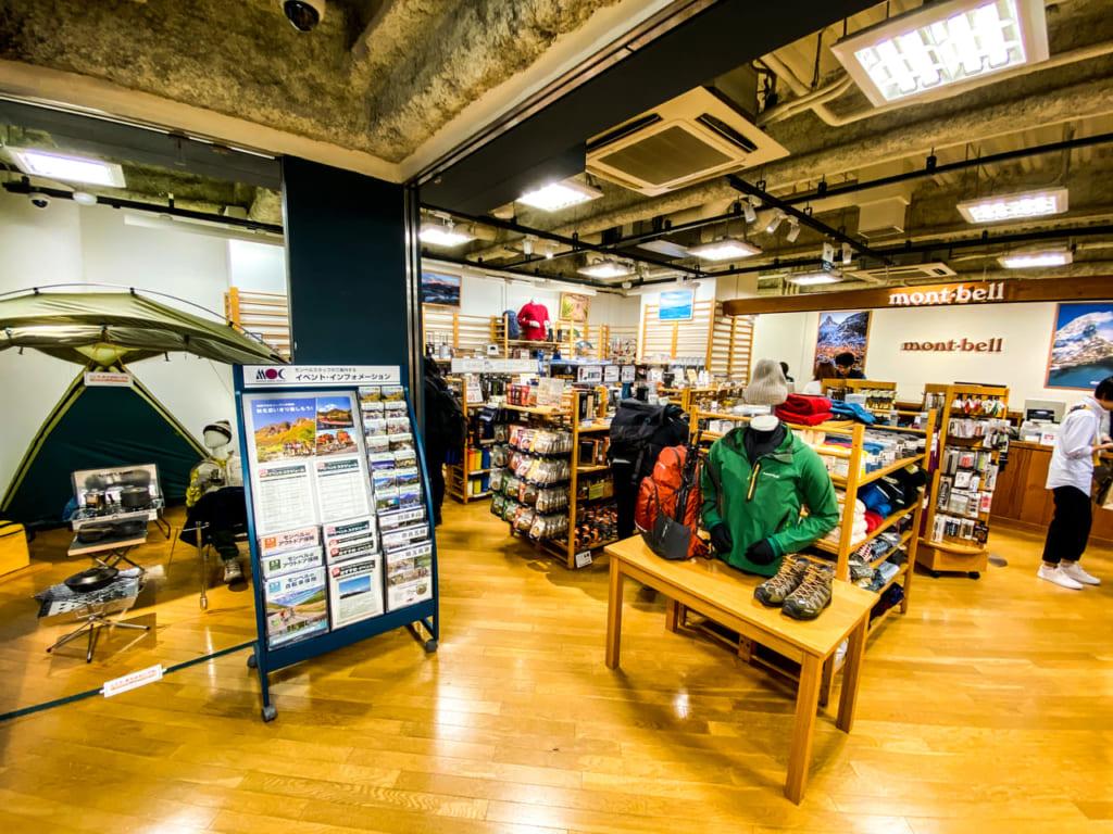/モンベル渋谷店1階フロア-1024x768
