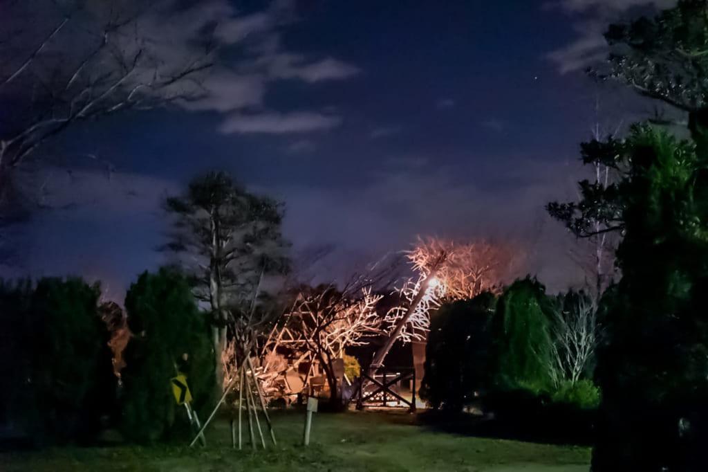/九十九里ハーブガーデンオートキャンプ場の夜景-1024x682