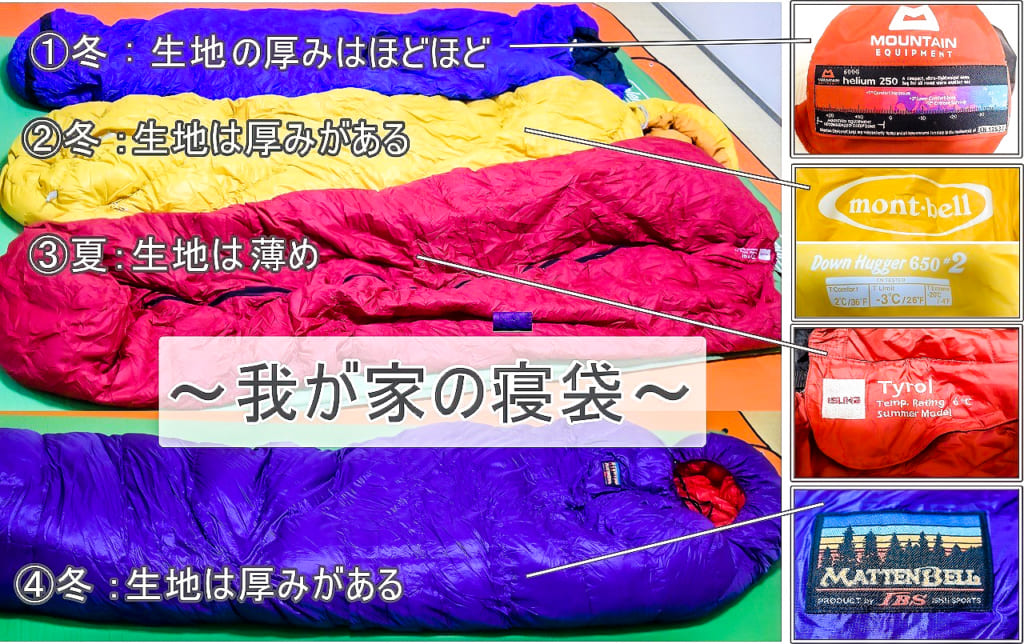 冬キャンプで持って行った寝袋4種類-1024x644