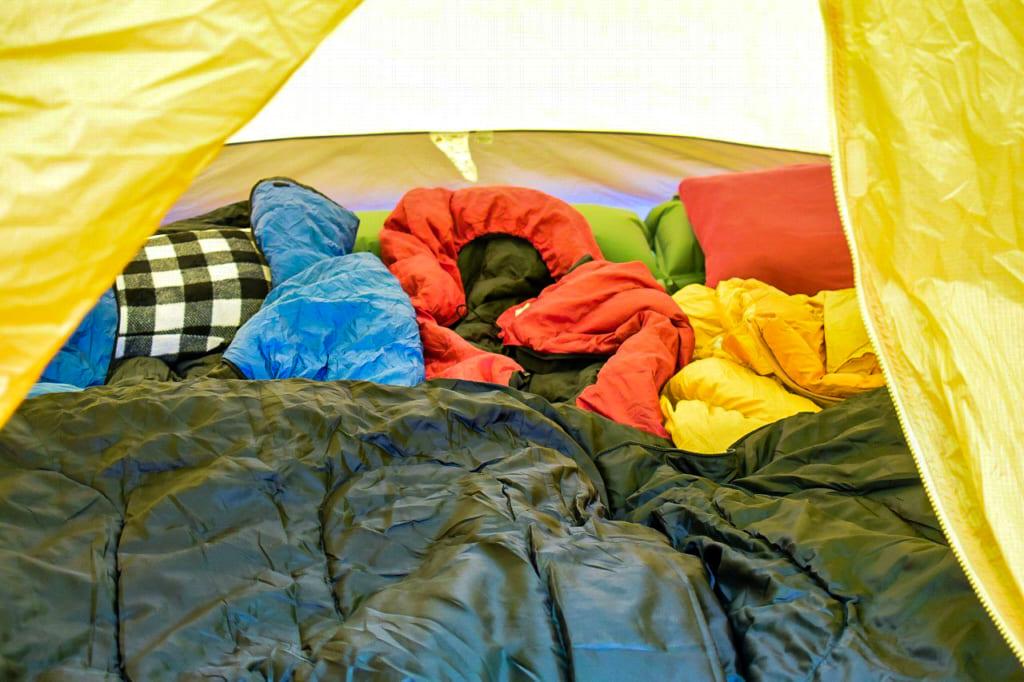 /冬キャンプの寝具-1024x682