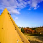 加賀坊山オートキャンプ場で薪ストーブテント