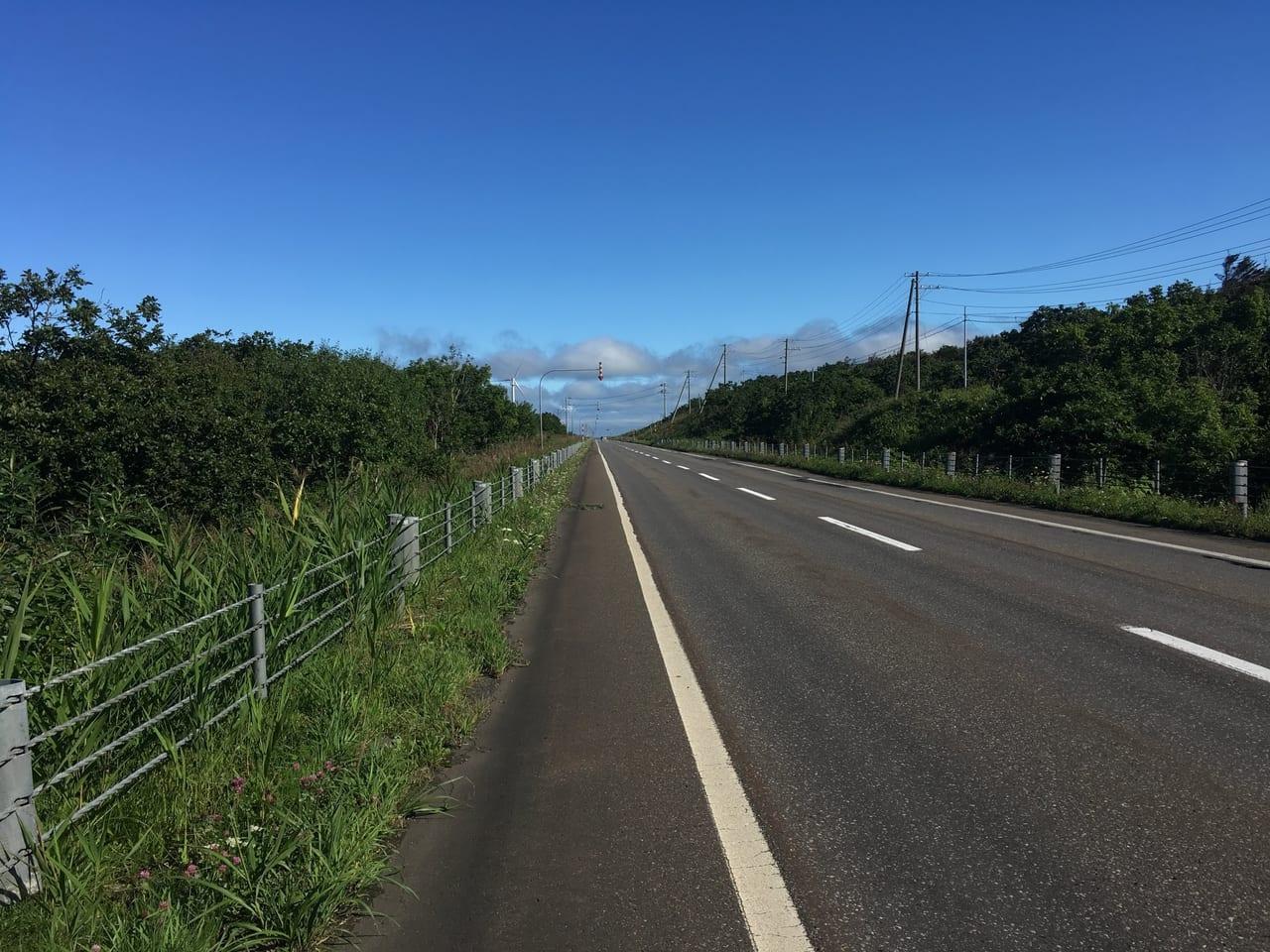 /北海道の道路写真