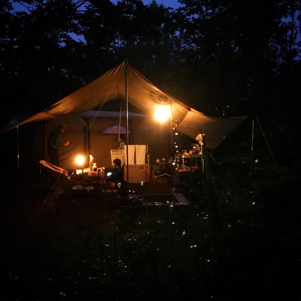/南乗鞍キャンプ場の夜