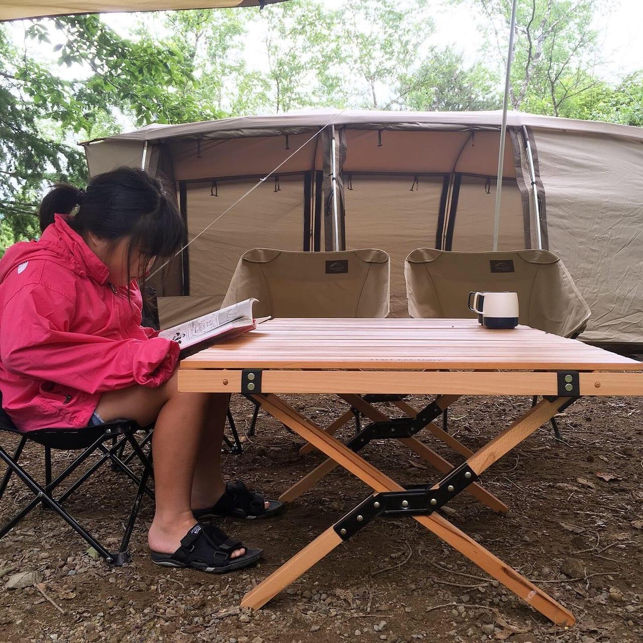 /南乗鞍キャンプ場サイトはプライベート感満載