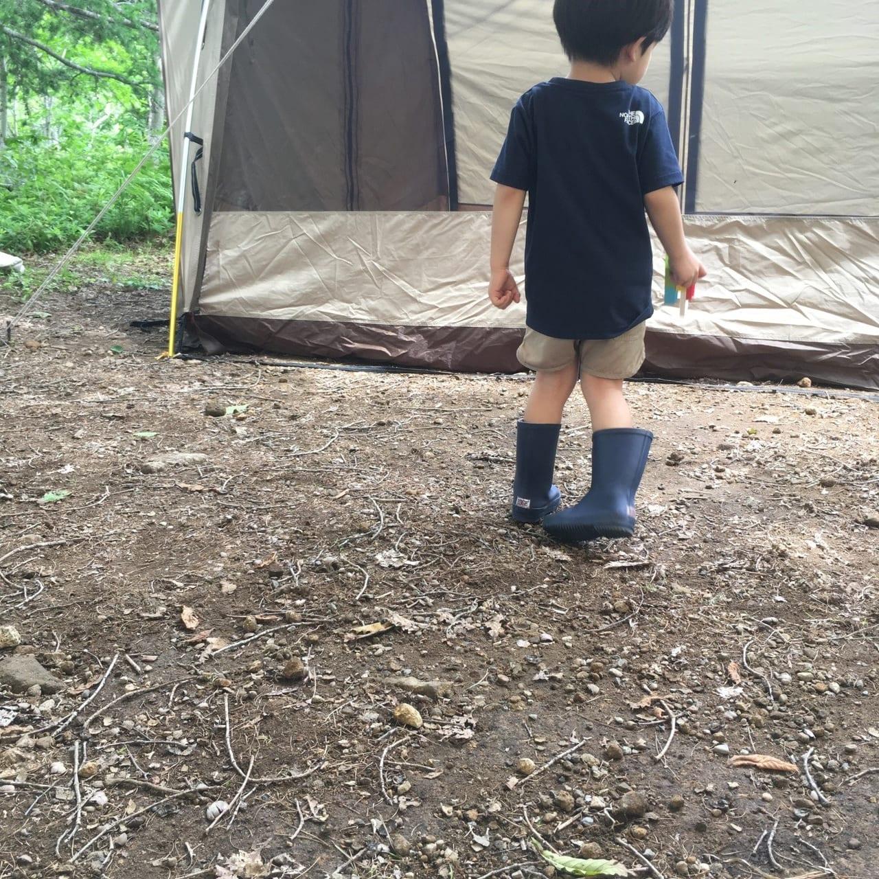 /南乗鞍キャンプ場サイト写真