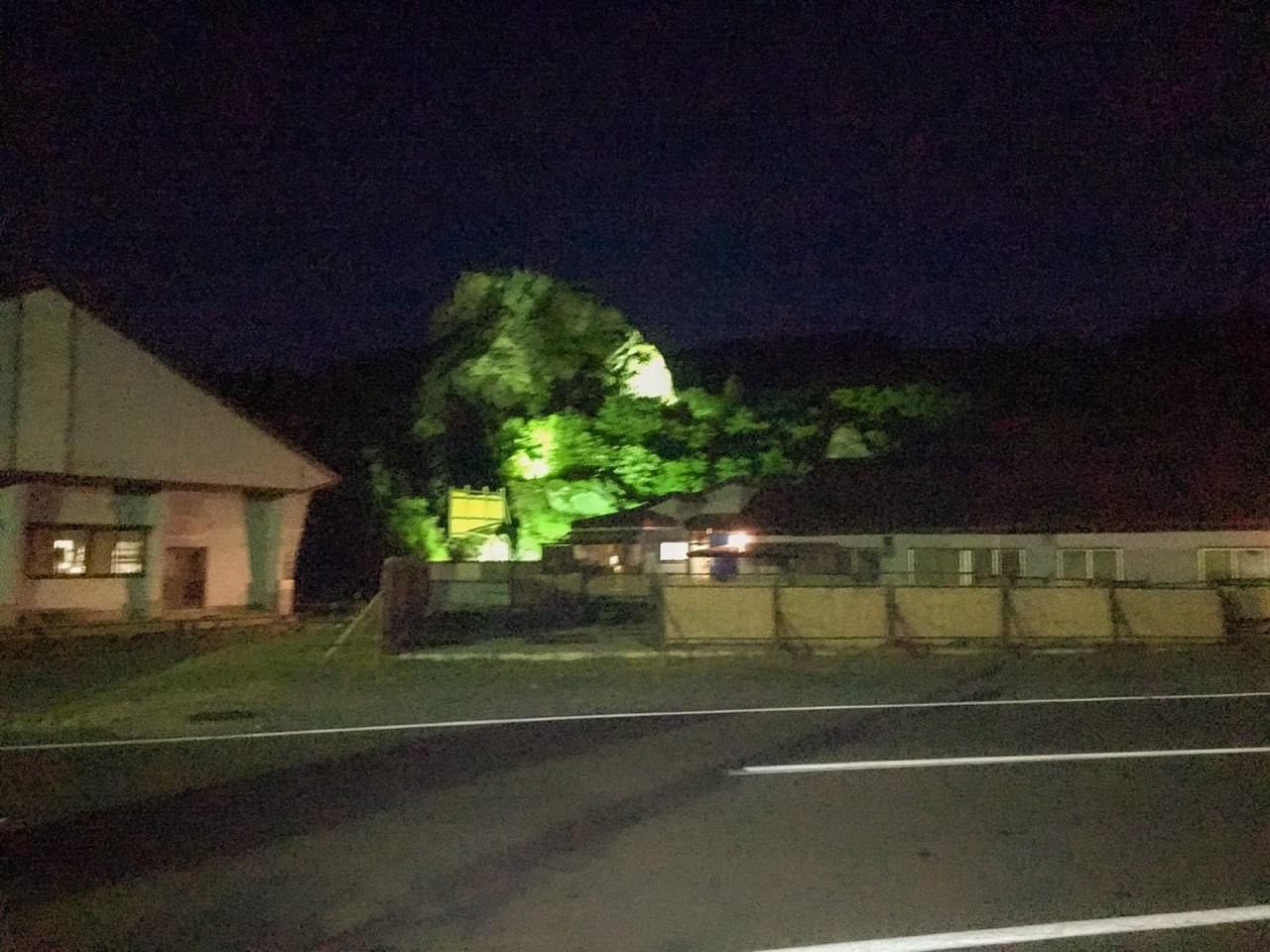 /夜の須川湖温泉