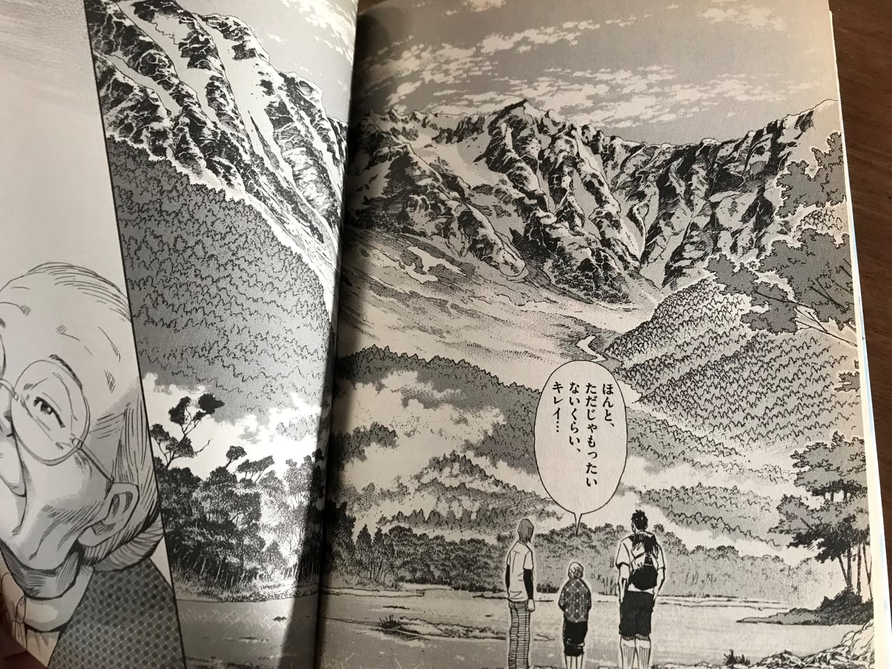 /山の描写が美しく描かれる