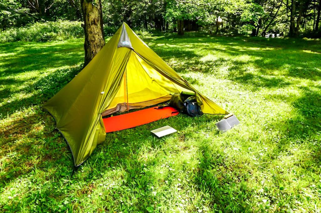 /徳沢キャンプ場にパンダテントでテント泊-1024x682