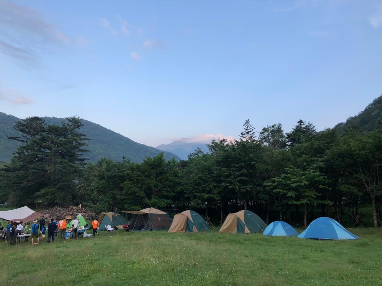 日光湯元キャンプ場の広大な敷地