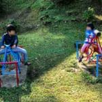 椛の湖オートキャンプ場の遊具1