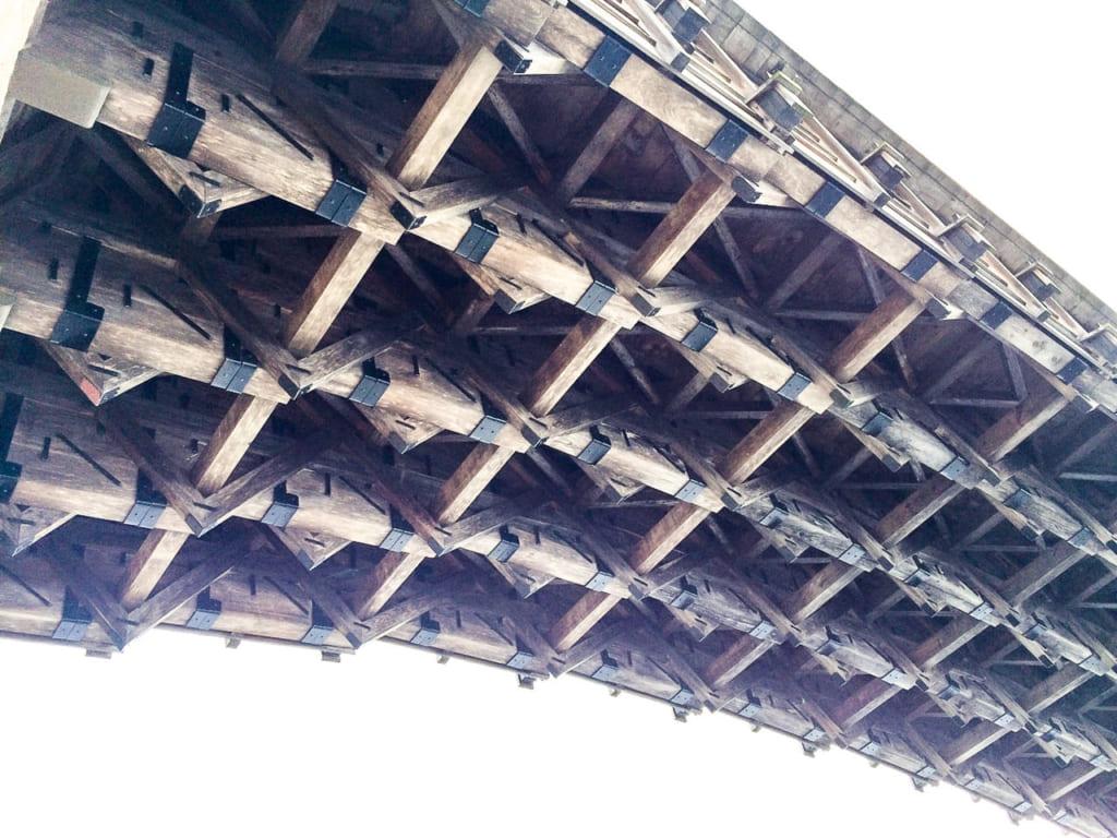 /橋の下から眺めた錦帯橋-1024x768