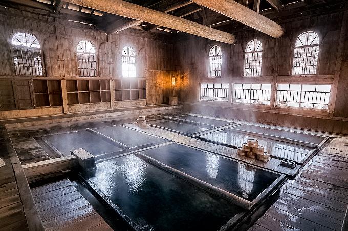 /法師温泉長寿館の大浴場