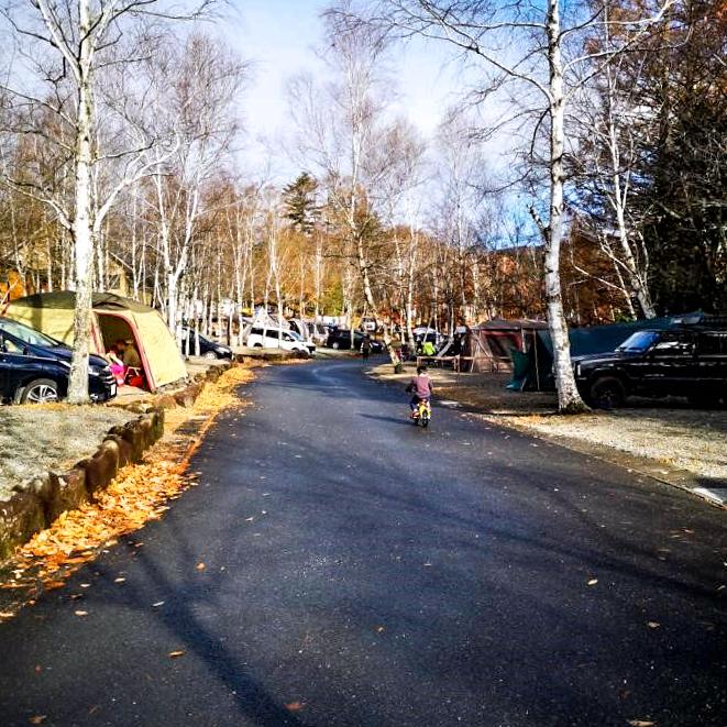 清里中央オートキャンプ場内の道路