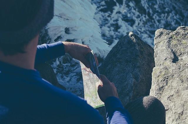 /登山コースを確認