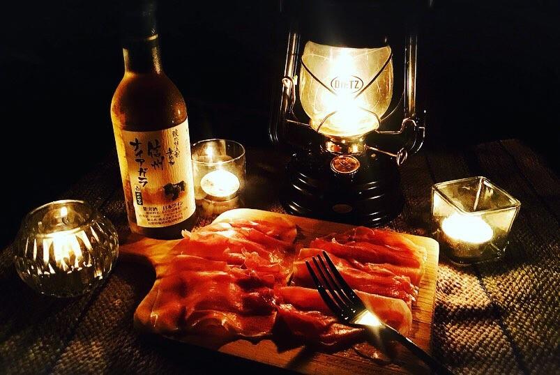 /白ワインとイタリア&スペインの生ハム