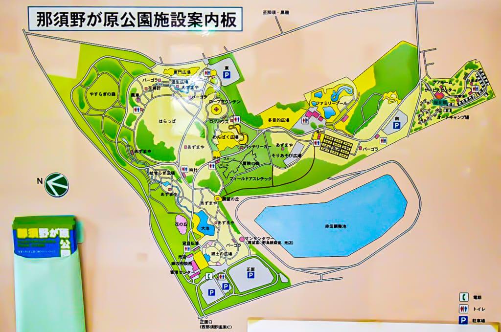 /那須野が原公園オートキャンプ場のマップ-1024x679