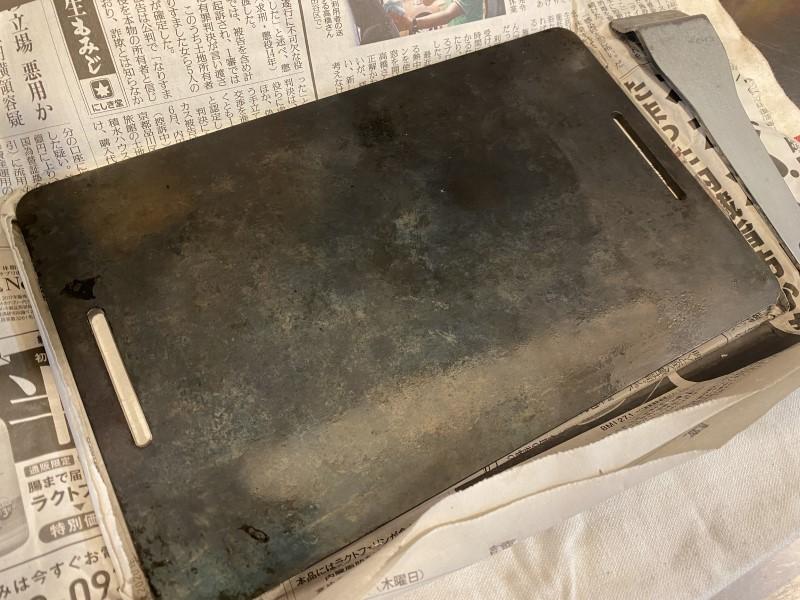 油が馴染んだ鉄板