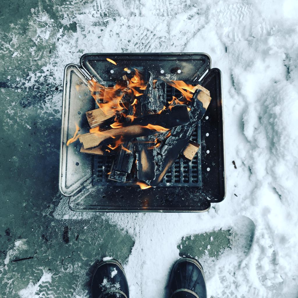 スノーピーク焚火台使用時