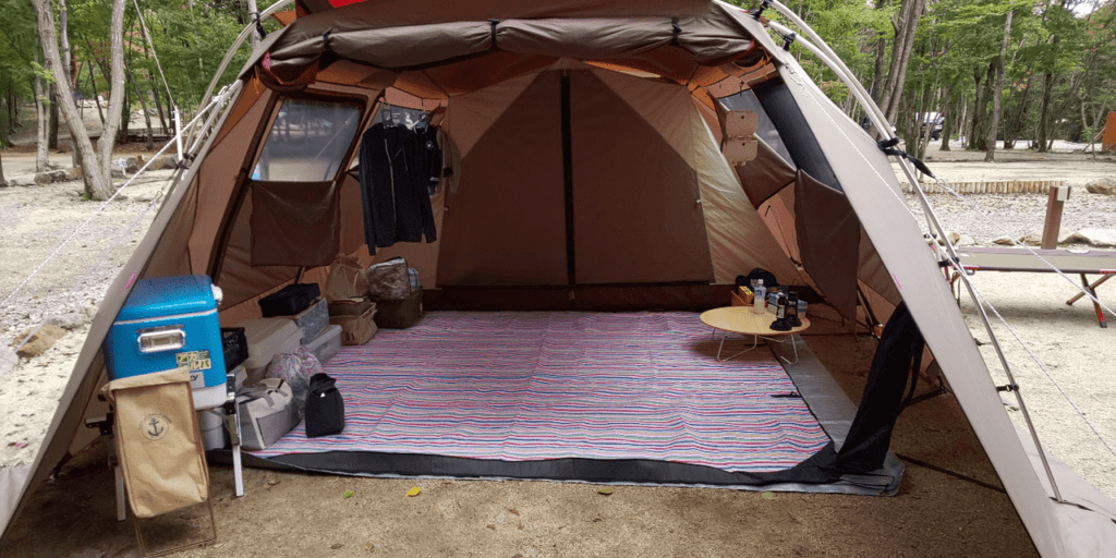 お気に入りのsnowpeakのテントでファミリーキャンプを楽しもう!