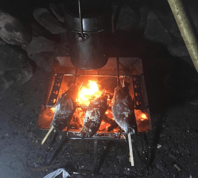 焚き火台をフル活用