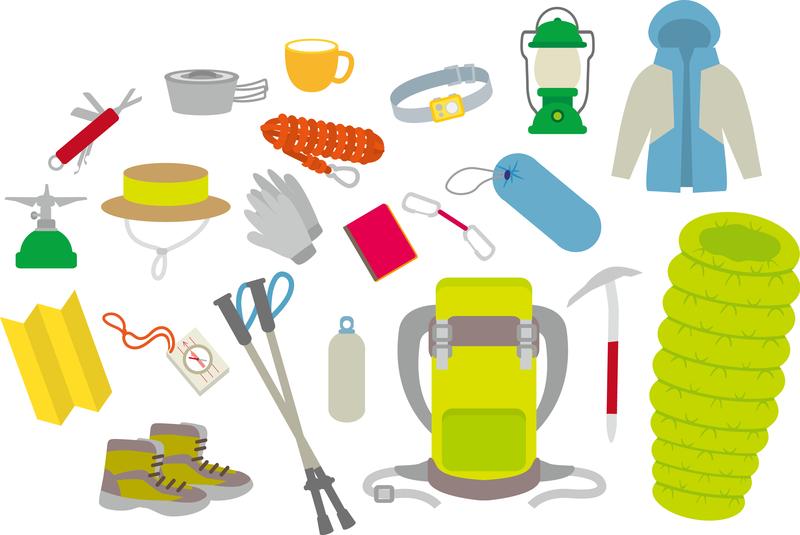 登山装備イメージ