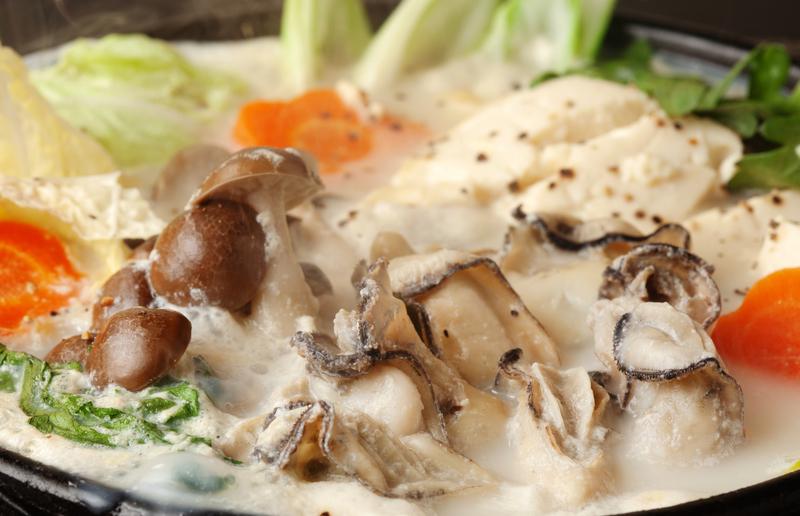 ミルク牡蠣鍋
