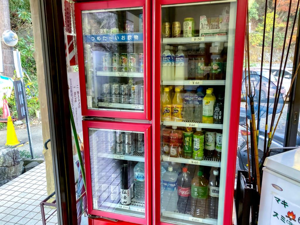 キャンプ場で販売されている飲料-1024x768