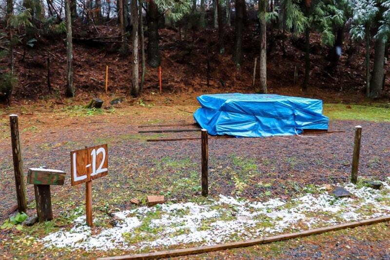 冬の期間は閉鎖されているドッグサイトL-12