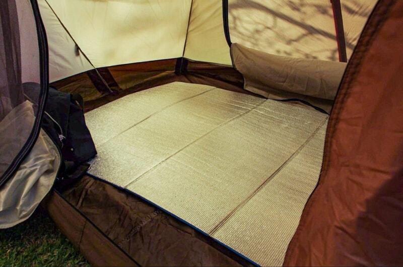 冬キャンプの底冷え対策に銀マット