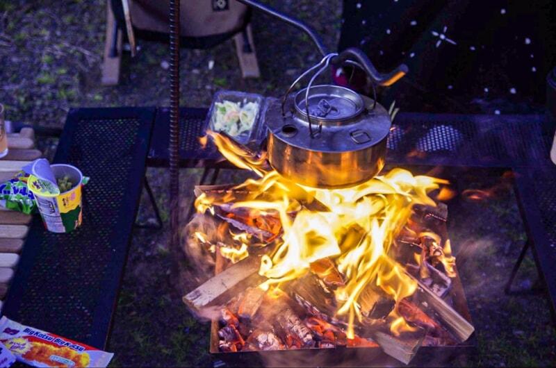 冬キャンプの焚き火は暖にならない