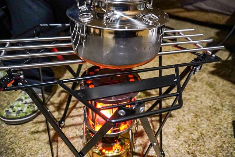 武井バーナーパープルストーブ301Aセットでお湯を沸かす