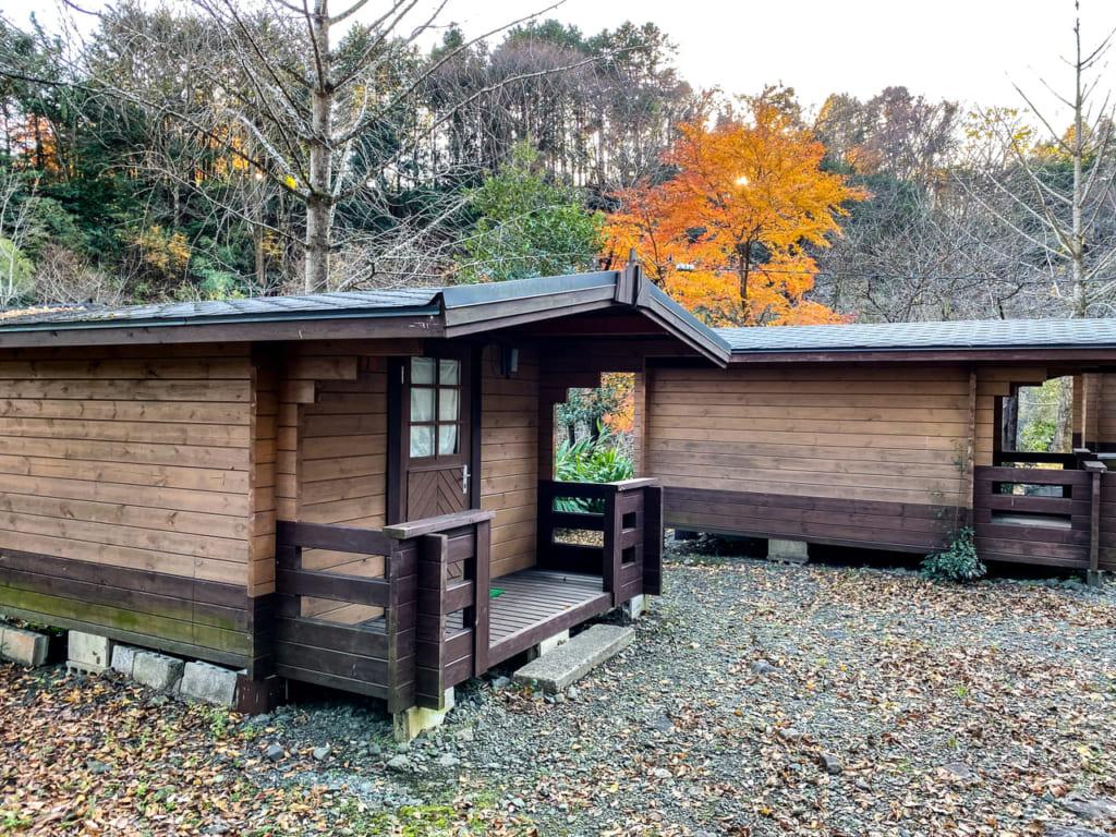 滝沢園キャンプ場のログハウス-1024x768