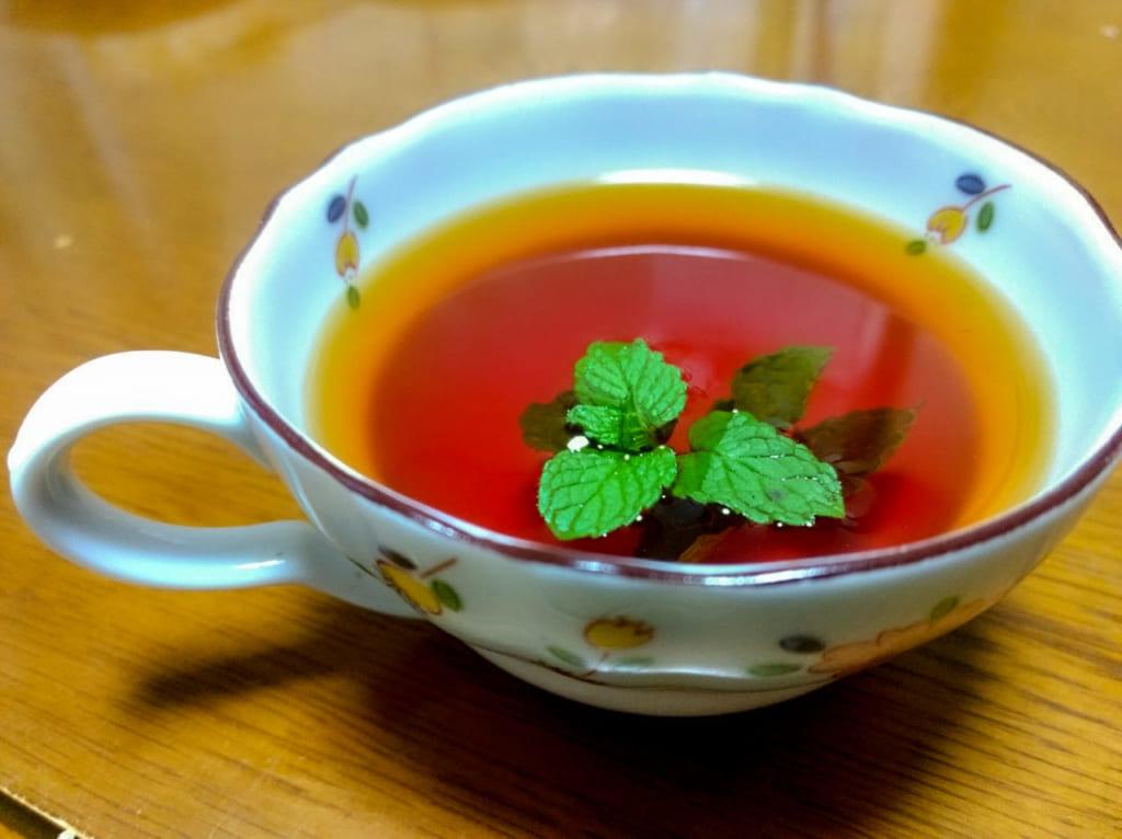 煮だしたミントで紅茶を作ってみる-1024x766