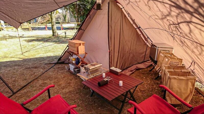 電源サイトで快適な冬キャンプ