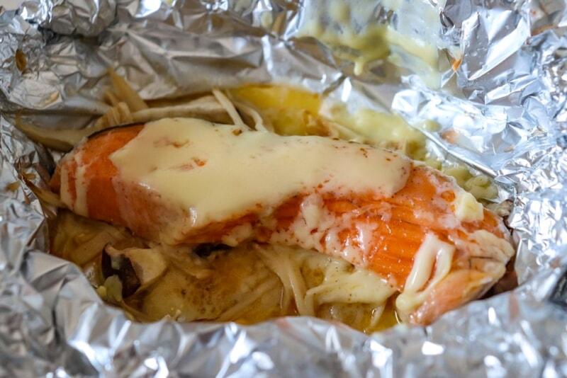鮭ときのこのマヨチーズホイル焼き