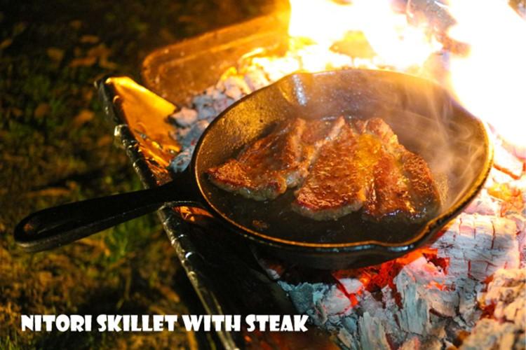 7823-ニトスキでステーキを焼く