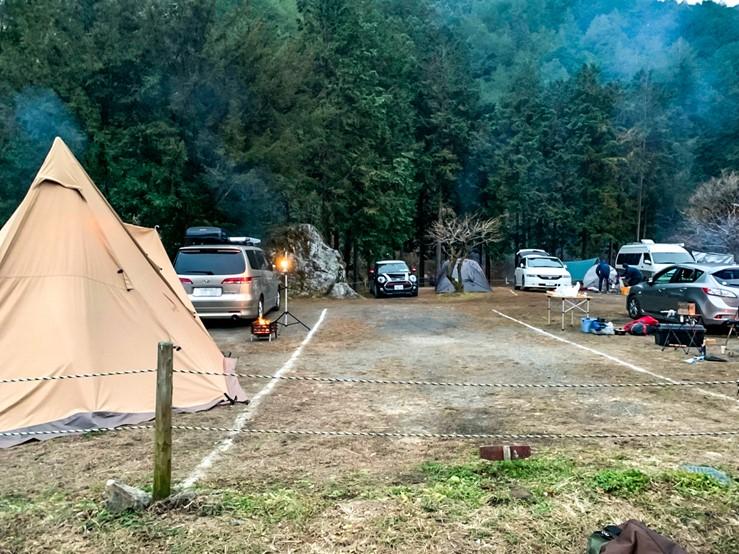 CAZUキャンプ場のテントサイト