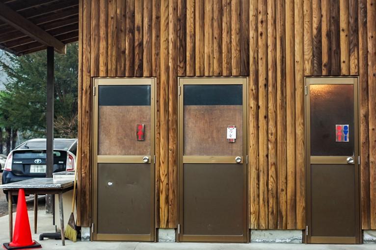 CAZUキャンプ場のトイレ